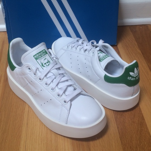 231175a3b070 ADIDAS  Stan Smith Bold  Leather Platform Sneakers